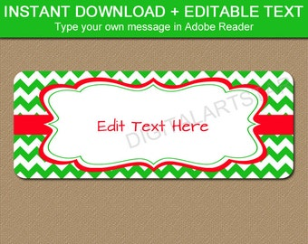 editable printable address labels diy holiday return address etsy