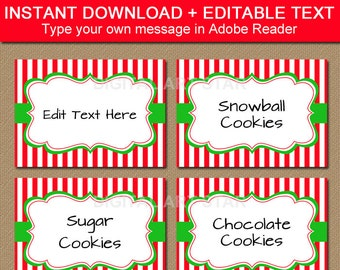 holiday party food labels christmas food labels printable