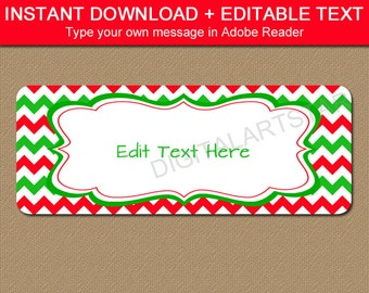 Printable Christmas Address Labels