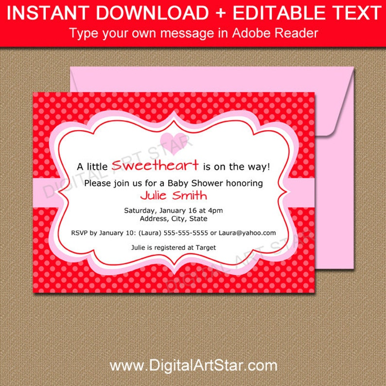Printable Valentines Day Invitation Template
