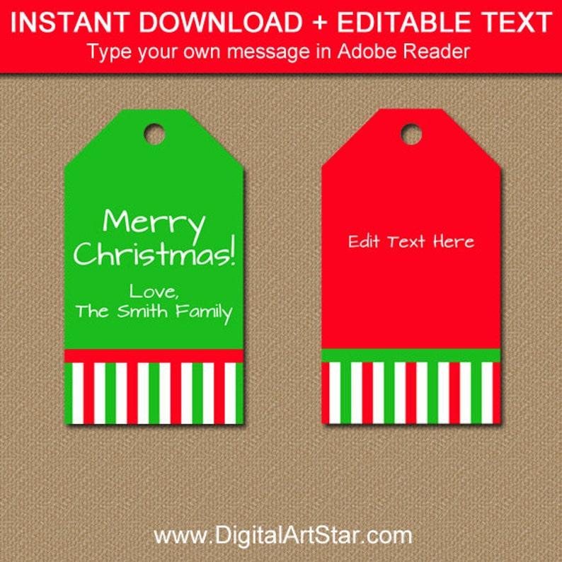 graphic relating to Printable Christmas Tags known as Xmas Tags - PRINTABLE Xmas Tags - Xmas Reward Tags - Xmas Hold Tags - Trip Present Tags - Xmas Desire Tag Down load CSV