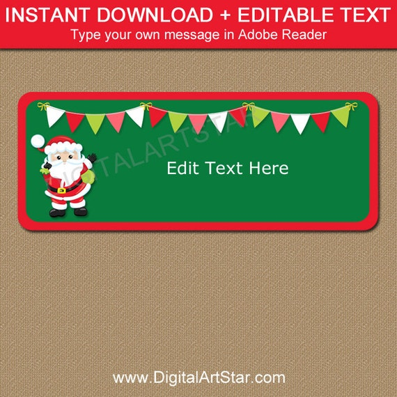Christmas Return Address Labels Printable Santa