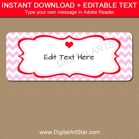 picture relating to Valentine Stickers Printable called Valentines Working day Return Include Labels - Printable Valentine