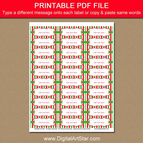 photograph about Printable Christmas Address Labels named Xmas Go over Labels - Printable Trip Return Protect Labels - Xmas Occasion Do-it-yourself Christmas Deal with Label Template - Editable Phrases PDF CSV
