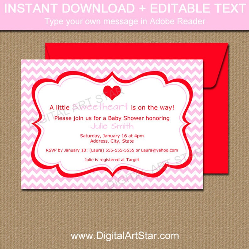 Downloadable Valentines Day Invitation