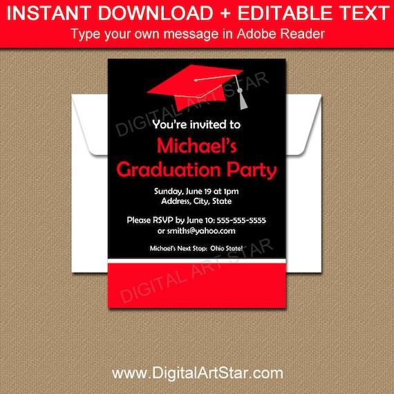 Editable graduation invitation template printable high etsy image 0 filmwisefo
