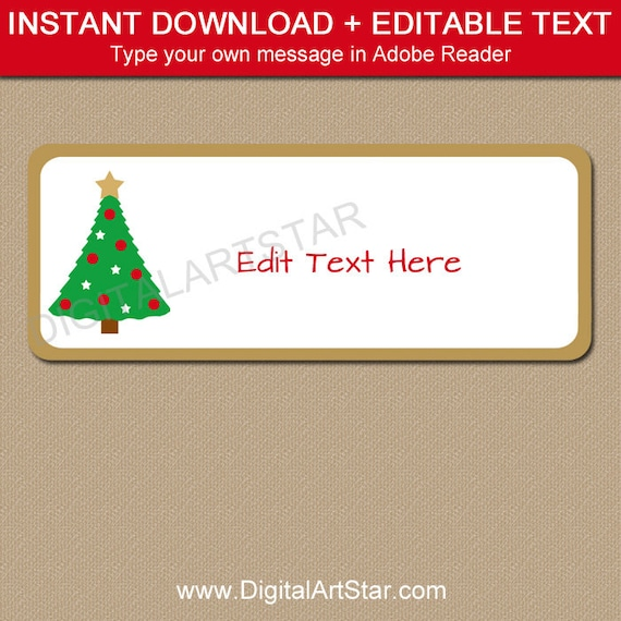 return address labels christmas address labels holiday etsy