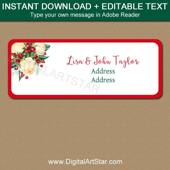 printable address labels christmas address stickers diy return