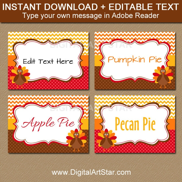 photograph about Printable Thanksgiving Name Cards identify Printable Thanksgiving Foodstuff Tags - Turkey Labels, EDITABLE Thanksgiving Buffet Playing cards, Thanksgiving Buffet Labels Thanksgiving Area Playing cards T1