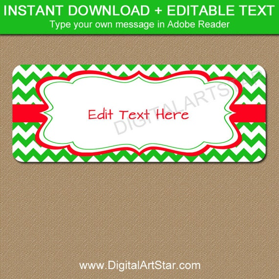 editable christmas address labels printable holiday return etsy