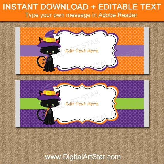 Halloween Candy Wrappers Halloween Candy Bar Wrapper Template