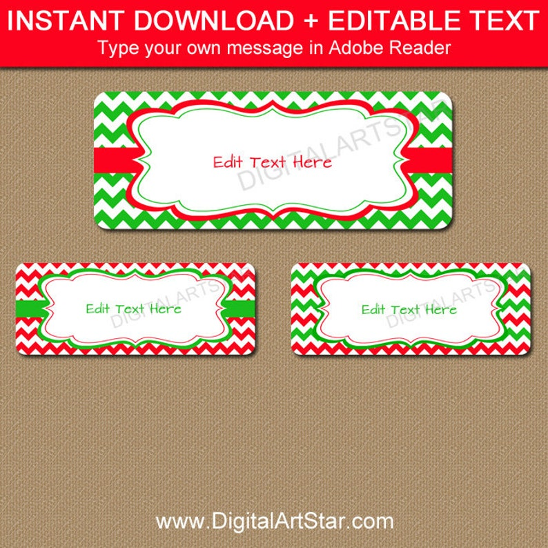 picture regarding Printable Christmas Address Labels known as Printable Xmas Protect Labels, EDITABLE Holiday vacation Cover Labels, Christmas Return Protect Label Template, Purple Environmentally friendly Xmas Present Tags C4