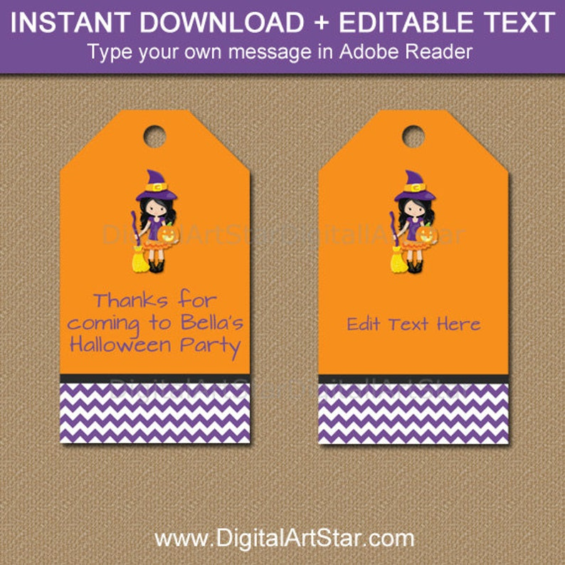 image relating to Printable Halloween Tags referred to as Young children Halloween Tags, Halloween Desire Tags, Printable Halloween Birthday Tags, Halloween Occasion Choose Tag, Quick Down load Woman Witch Tag WDS