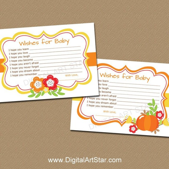 Wishes For Baby Fall Autumn Wishes For Baby Printable Wishes For