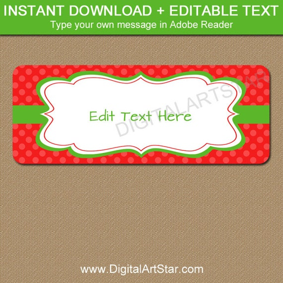 printable holiday address labels with editable text christmas