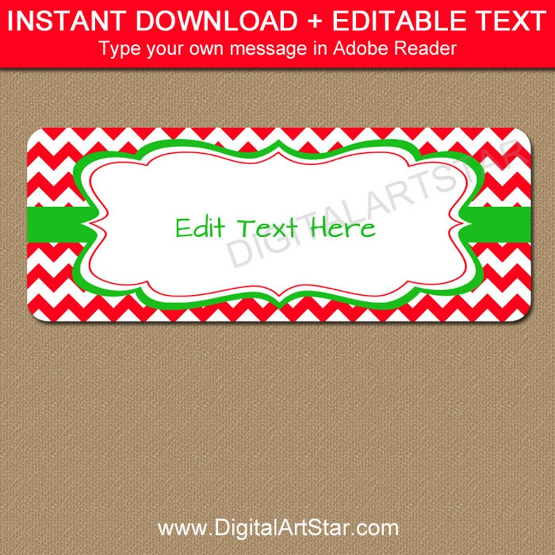 graphic about Printable Christmas Address Labels named EDITABLE Printable Go over Labels, Do-it-yourself Getaway Return Include Labels, Adorable Xmas Protect Label Template, Revolutionary Xmas Reward Labels C4