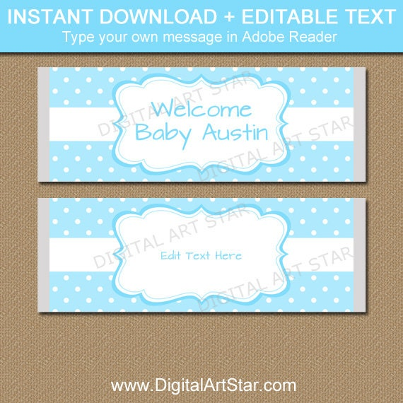 Baby Boy Candy Bar Wrapper Template Boy Baby Shower Ideas Aqua