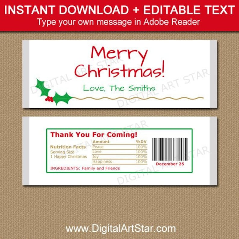 personalized chocolate bar wrappers template.html