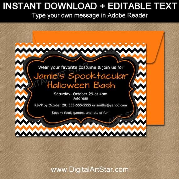 Diy Halloween Invitation Template Printable Halloween Invitation