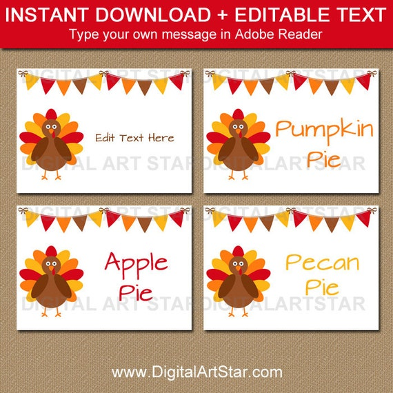 Thanksgiving Place Cards Thanksgiving Labels Thanksgiving Etsy