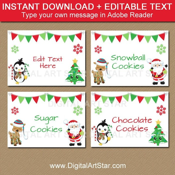 Editable Christmas Labels.Christmas Food Labels Printable Editable Christmas Labels