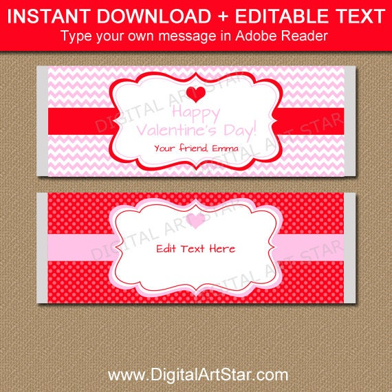 Digital Download E65 Romance Candy Wrappers Valentine