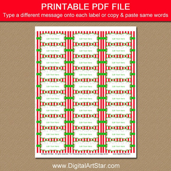 editable holiday address labels christmas return address labels christmas template download christmas gift labels xmas favor labels csv