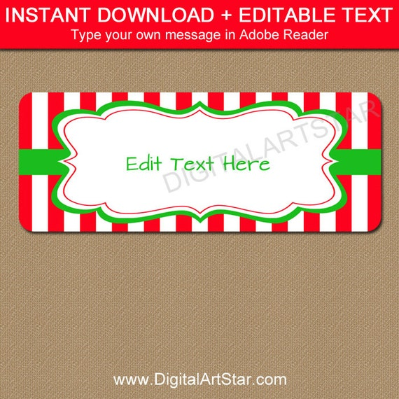 editable holiday address labels christmas return address etsy