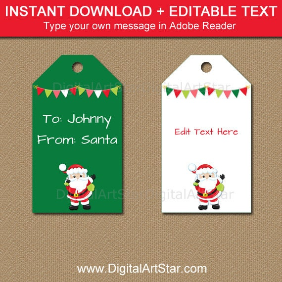 from santa tags santa gift tags from santa stickers printable