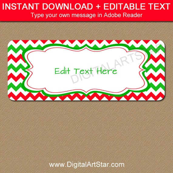 printable christmas address labels edit in adobe reader holiday