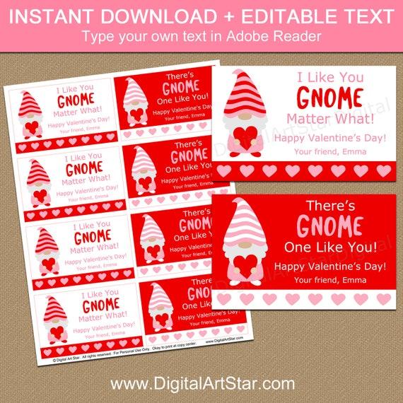 Gnome Valentine Card