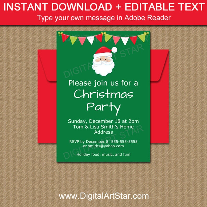 graphic relating to Printable Holiday Invitation referred to as Santa Invitation - PRINTABLE Santa Invite - Getaway Get together Invitation Obtain - Electronic Xmas Invitation - Top secret Santa Invitation C2