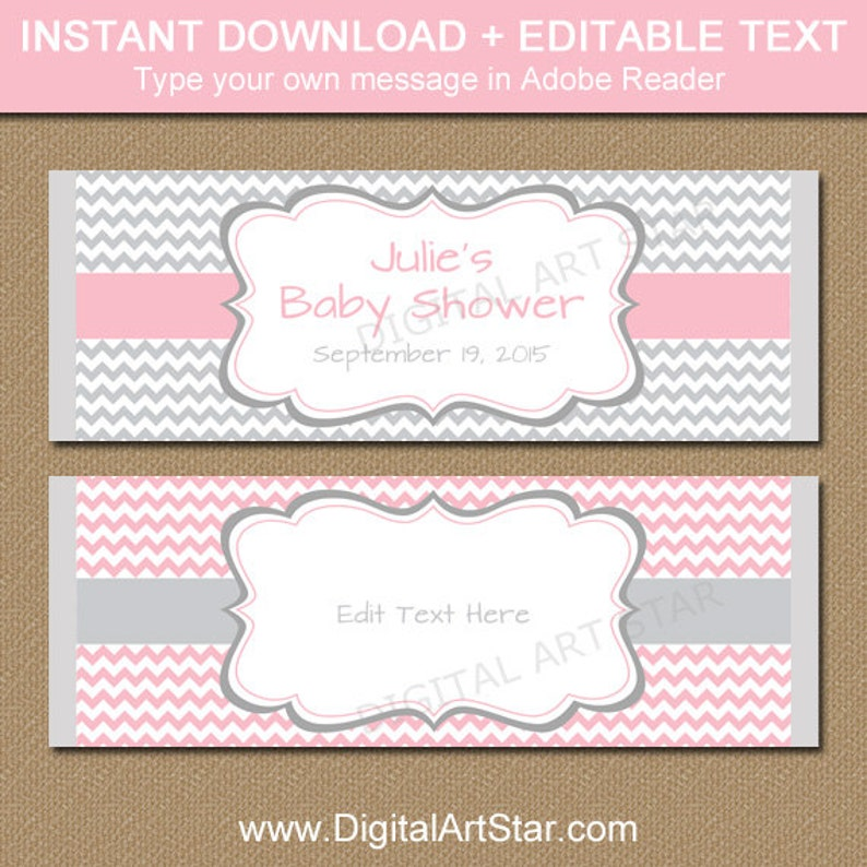 baby shower chocolate wrappers template.html