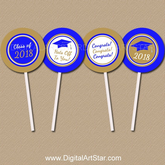 High Graduation Party Ideas Graduation Cupcake Toppers   Etsy on