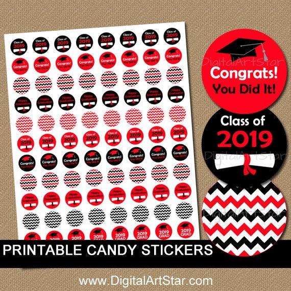 2019 Graduation Stickers High School Graduation Party Ideas Etsy