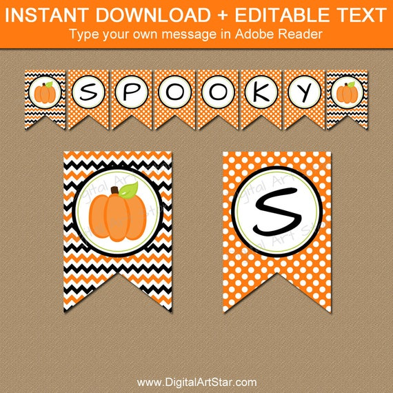 halloween banner printable fall banner little pumpkin banner