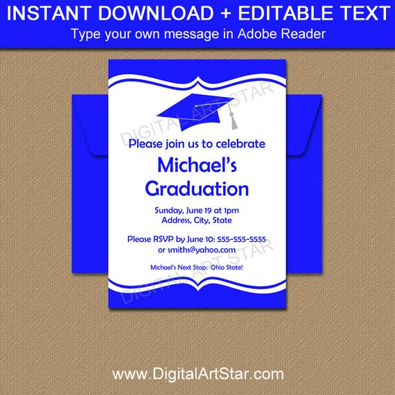 graduation invitation template download printable high school