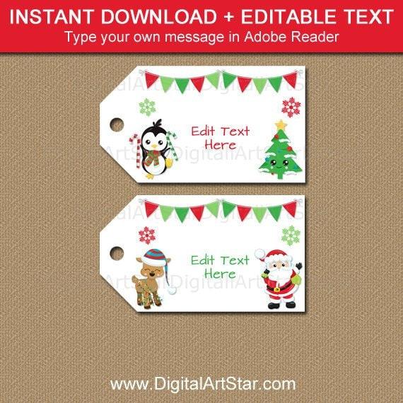 cc54460dc6c72 Editable Christmas Tags - Printable Christmas Gift Tags - Christmas ...
