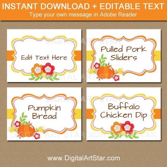 photo relating to Thanksgiving Place Cards Printable known as Thanksgiving Stage Playing cards Printable Tumble Wedding ceremony House Playing cards