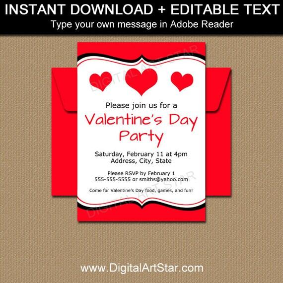 valentine invitations valentines day invitation template