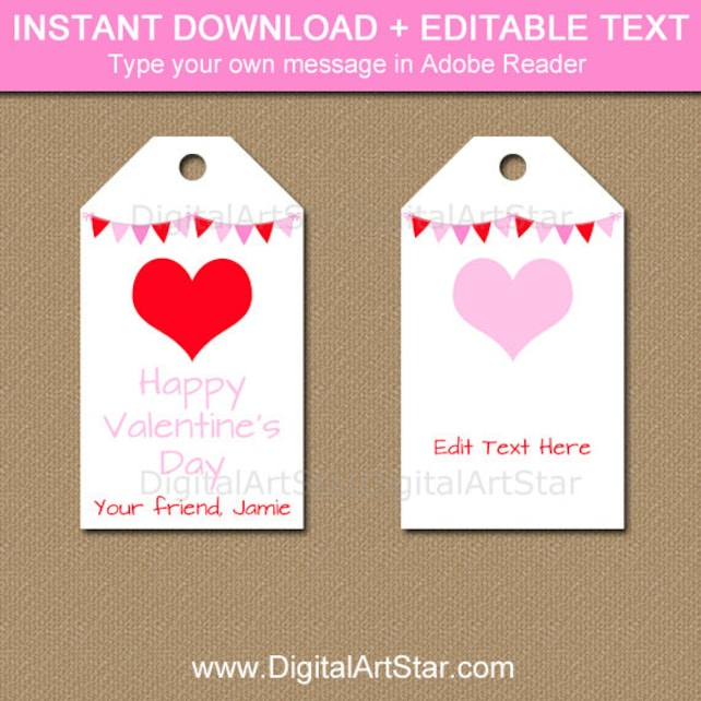 valentines day tag template valentine hearts tags printable etsy