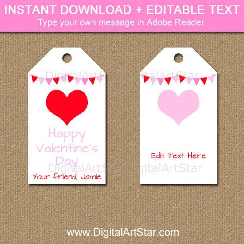 picture relating to Valentine's Day Tags Printable known as Printable Valentine Tags for Little ones, Valentines Working day Tags, Clroom Valentine Tags Immediate Down load, Valentine Center Tags, Trainer Tags V4