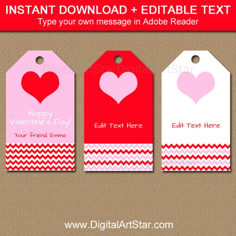 image relating to Valentine's Day Tags Printable titled Editable Valentine Reward Tags, Instructor Valentine Printable, Valentines Working day Tags, Valentine Hold Tags, Clroom Valentine Bash Want Tags V1