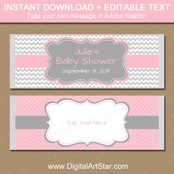 Printable Candy Bar Wrappers Editable Chocolate Bar Wrappers