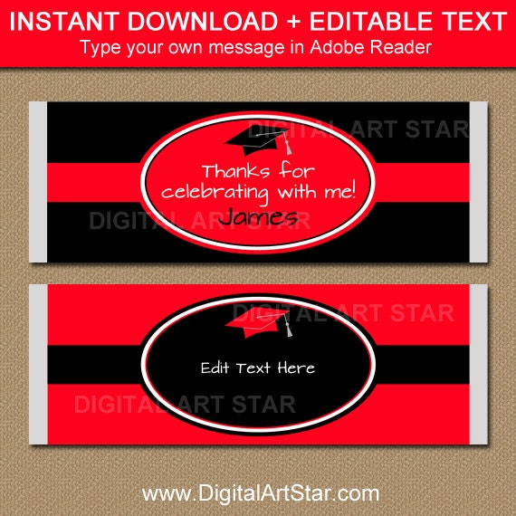 Free printable graduation candy bar wrappers templates ideas of.