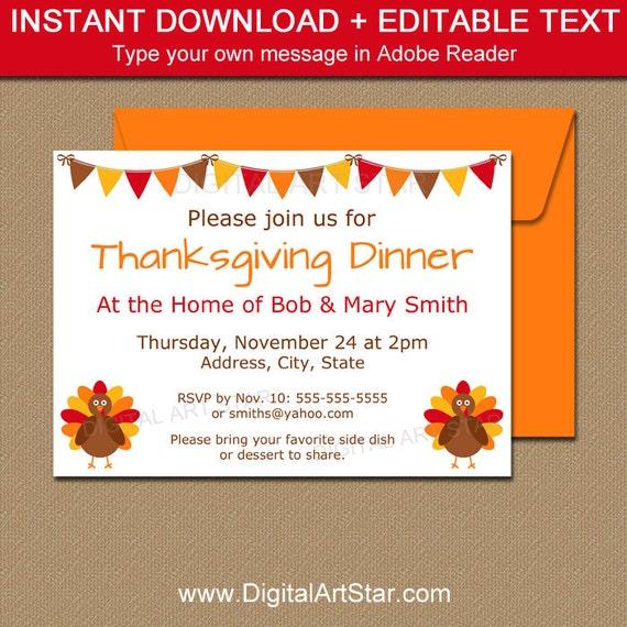 Thanksgiving Invitation Printable Thanksgiving Baby Shower