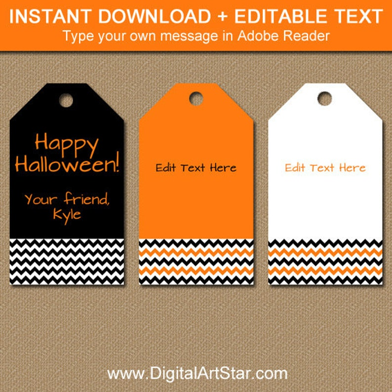 picture regarding Printable Hang Tags identified as Halloween Present Tags, Halloween Cling Tags, Printable Halloween Thank On your own Tags, EDITABLE Tags for Favors - Halloween Tags Fast Obtain