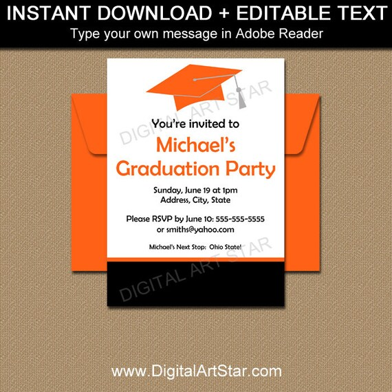 Graduation Party Invitation Template High School