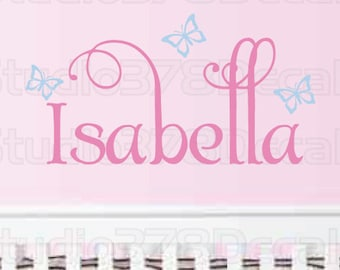 Personalized Girls Monogram - Childrens Decor - Nursery Wall Decals - Vinyl Wall Decal - Custom Wall Decal - 10in