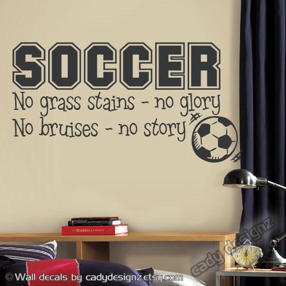 Soccer Sports Vinyl Wall Decal Children Decor No Grass | Etsy